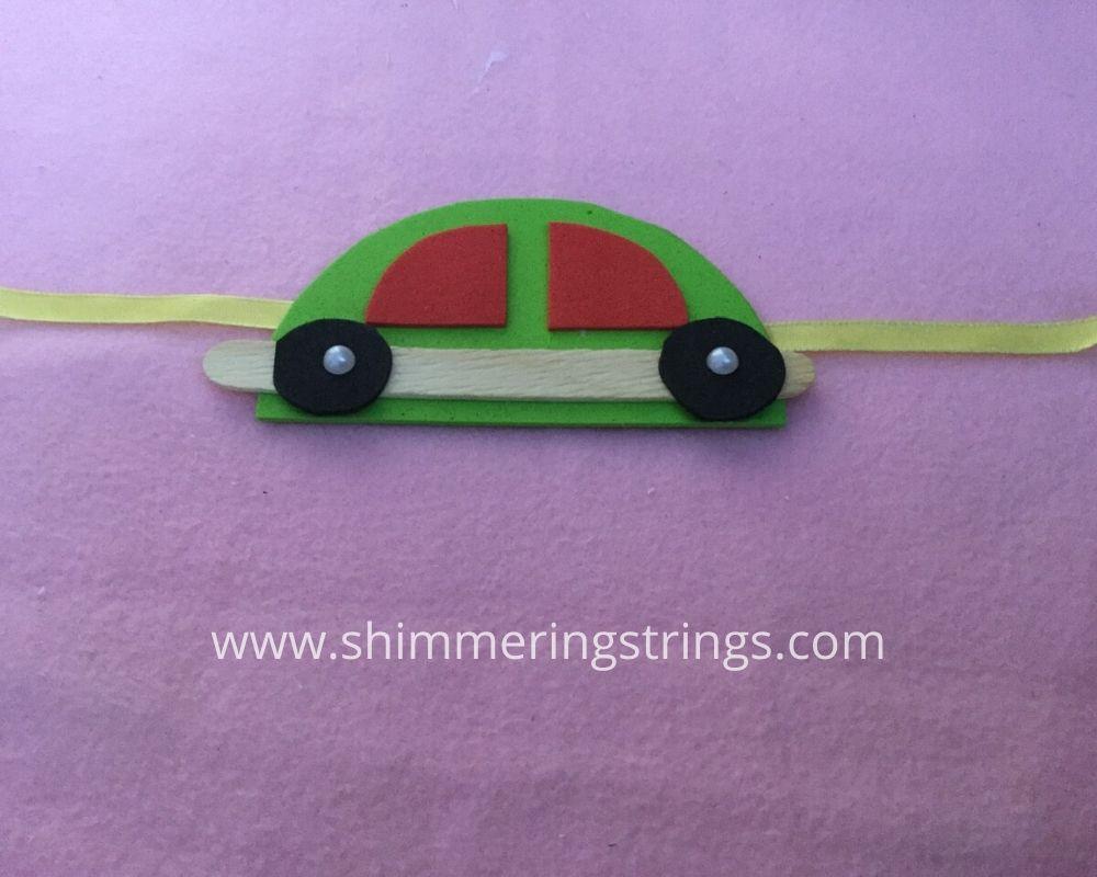 DIY CAR RAKHI FOR KIDS