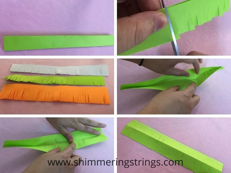 Tri color paper craft badge