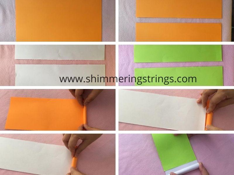tri color paper craft flower
