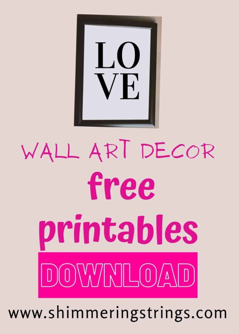 FREE WALL ART PRINTABLES