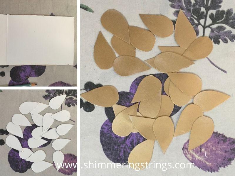 wall hanging with mandala art on cardboard tube /kitchen roll