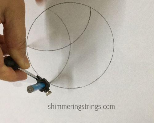 easy geometric pattern using compass