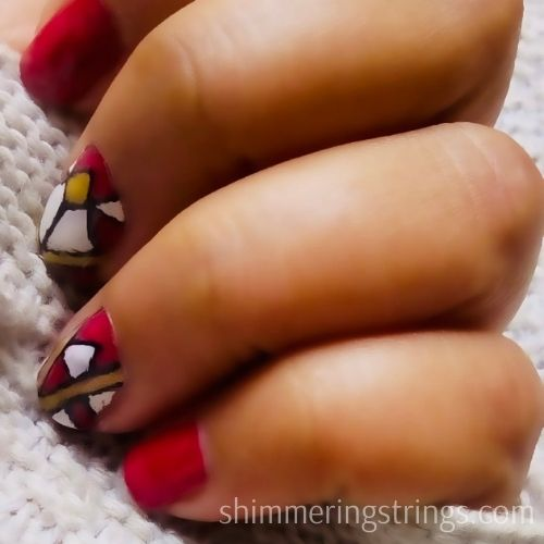 easy nail art with household tools