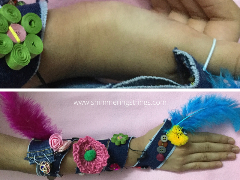 3-in-1 DIY fashion accessory with old buttons and jeans