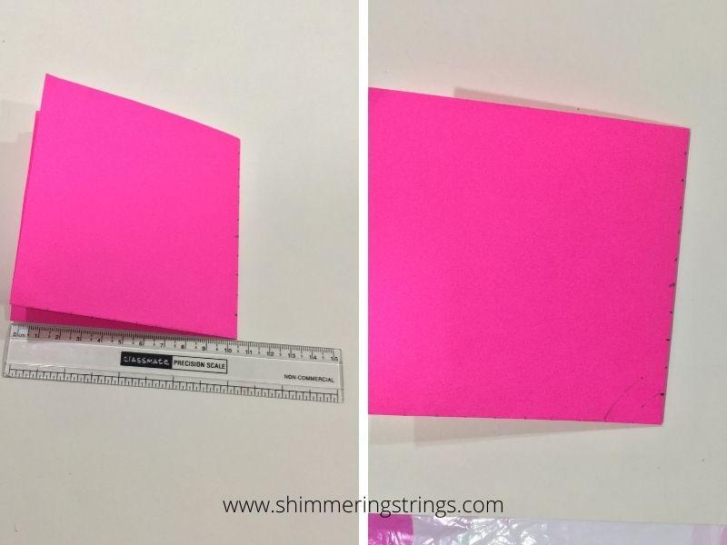 DIY paper wall hanging/ toran