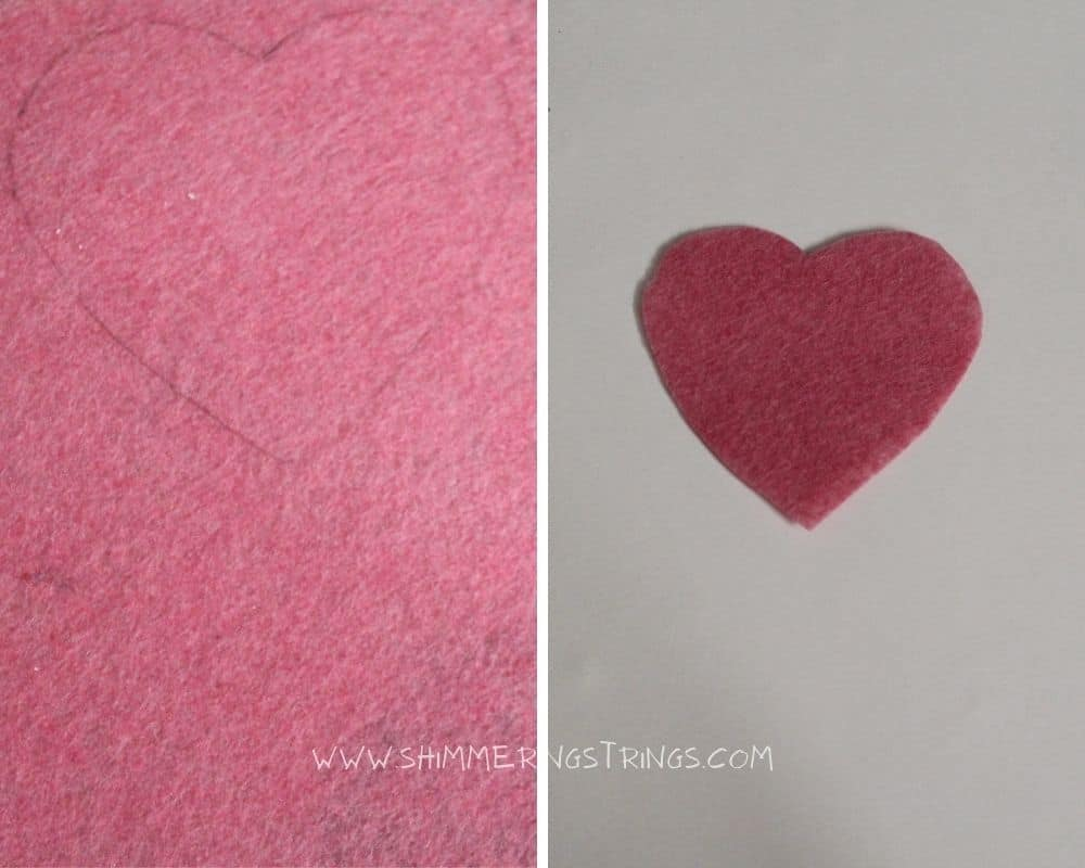 DIY heart shaped earrings with paper straws