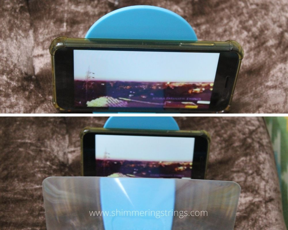 low cost educational gadget mobile phone screen enlarger magnify glass for kids