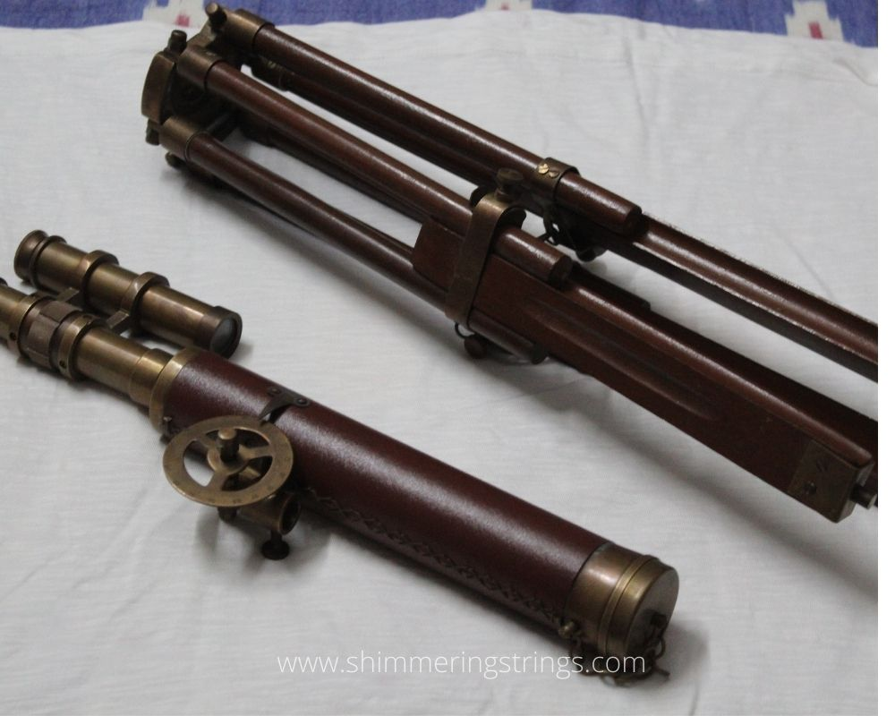 cool educational gadget for kids Antique finish brown brass telescope with tripod