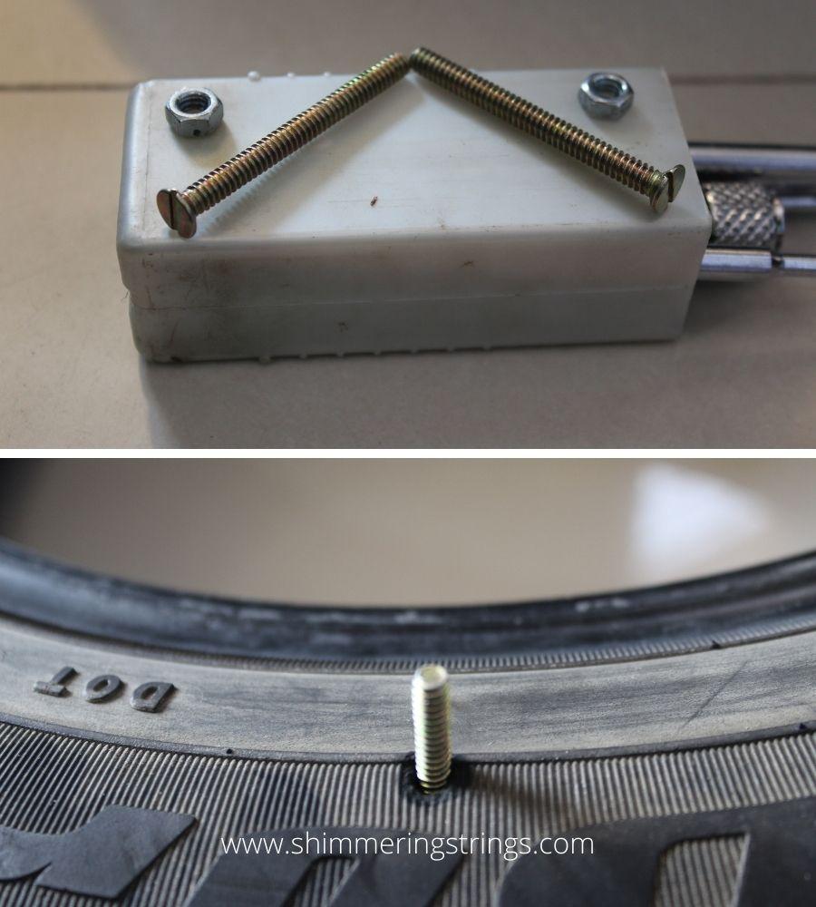 old tyre DIY stool