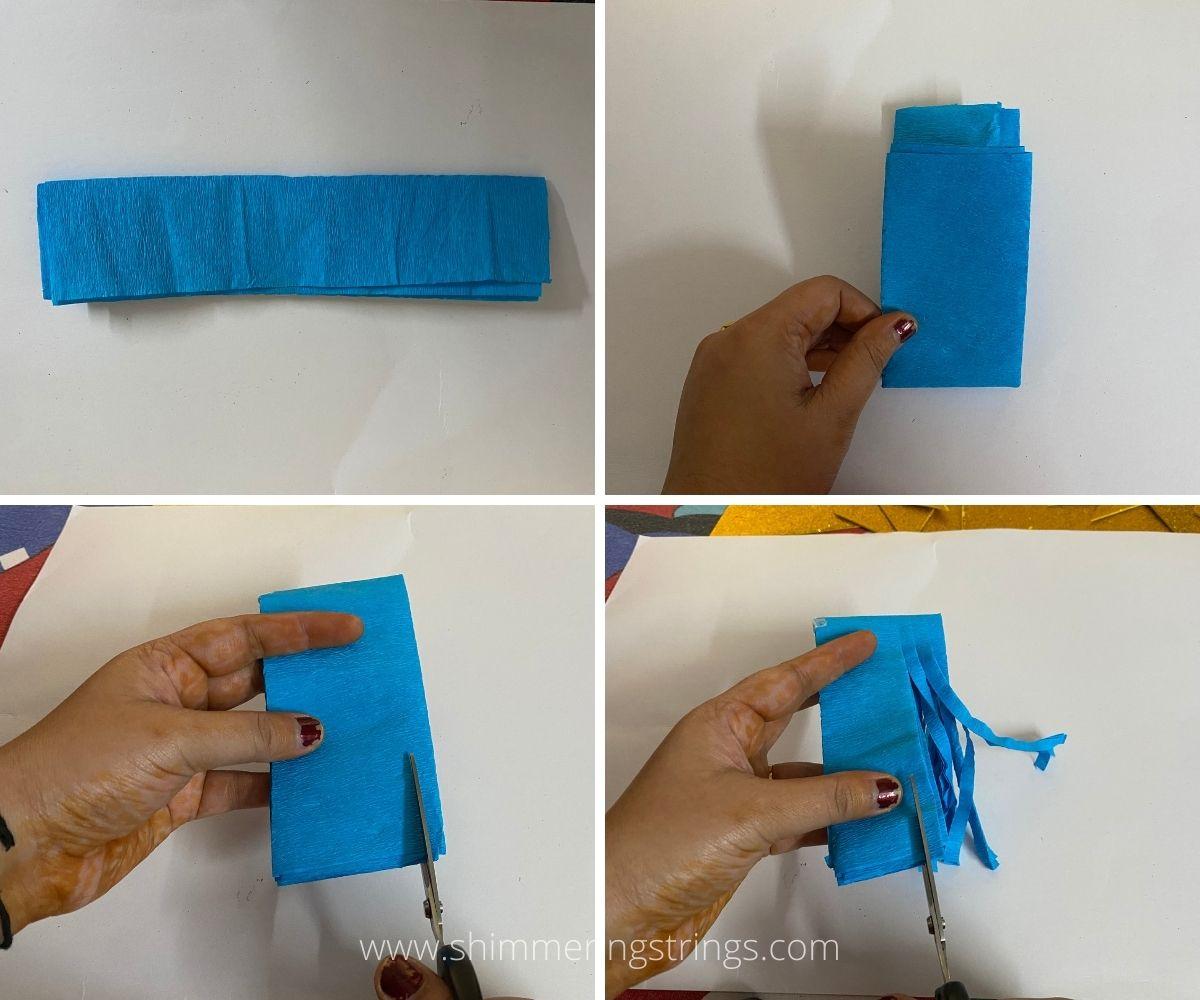 crepe paper tassel/ pom-pom
